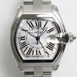 カルティエ ロードスターGMT W62032X6 メンズ腕時計 Cartier SS 自動巻 ブレス 中古 A 返品可 質屋出品 送料無料