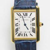 カルティエ タンクソロLM K18YG W5200004 メンズ腕時計 Cartier K18/SS 中古 A 返品可 質屋出品 送料無料
