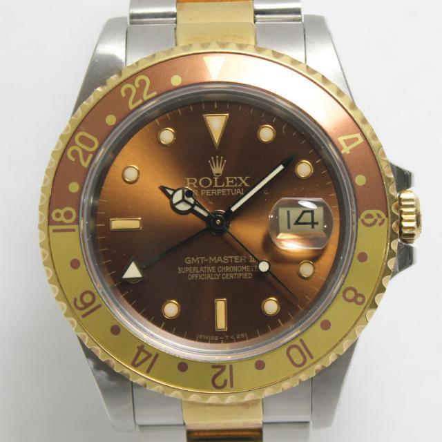 ロレックス GMTマスター2 ROLEX REF. 16713 コンビ 1988年頃(R番) 自動巻 中古 AB 返品可 質屋出品 送料無料
