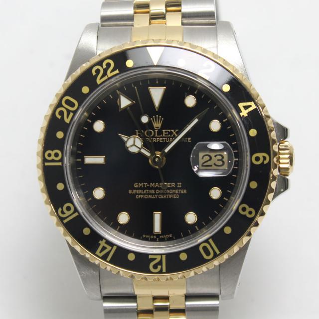 ロレックス GMTマスター2 ROLEX REF. 16713 コンビ 1999年頃(A番) 自動巻 中古 A 返品可 質屋出品 送料無料