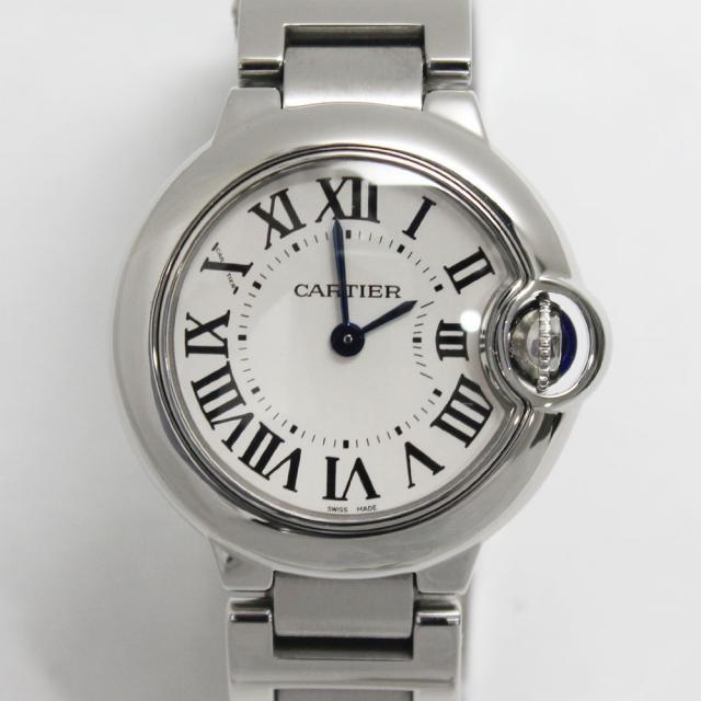 カルティエ バロンブルーSM レディース腕時計Cartier W69010Z4 中古 A 返品可 質屋出品 送料無料