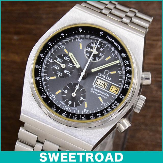 OMEGA オメガ SPEEDMASTER/スピードマスター Ref 176.0016 オートマチック/デイデイト/オリジナルグレーダイヤル Cal.1045/自動巻クロノグラフ 1979年製 w-14468 アンティーク 中古