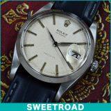 ROLEX ロレックス OYSTERDATE オイスターデイト Ref. 6694 オリジナルシルバーダイヤル/アルファハンド/ブルースチール針 Cal. 1215 手巻き 1960年製 w-16195 アンティーク 中古