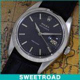 ROLEX ロレックス OYSTER DATE オイスターデイト ブラックダイヤル/アルファハンド Ref. 6694 手巻き Cal. 1215 1961年製 w-16199  アンティーク 中古 USED