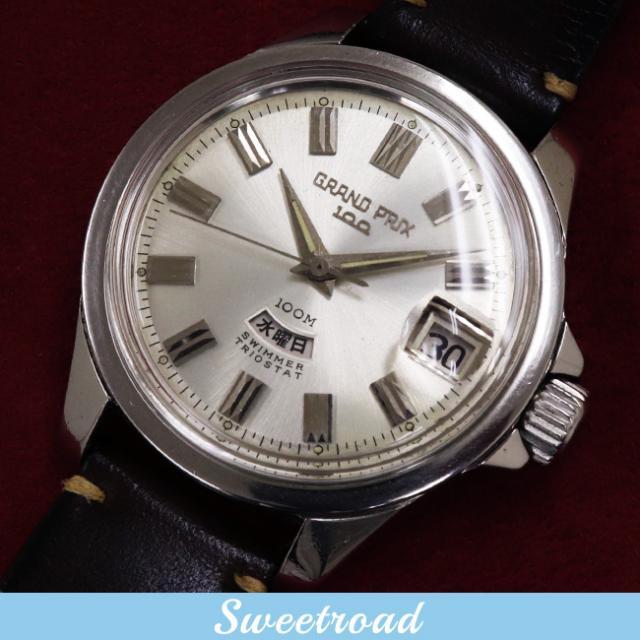 ORIENT/オリエント GRAND PRIX 100/グランプリ100 Ref.T19420 オリジナルシルバーダイヤル ペガサスメダリオン 自動巻 1965年製 w-17315