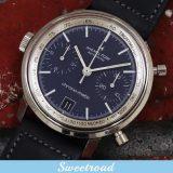 HAMILTON/ハミルトン Chronomatic/クロノマチック Ref.11002-3 オリジナルブルーダイヤル Cal.11/自動巻クロノグラフ 1970年代 w-17636 希少