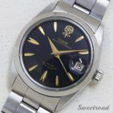 TUDOR/チュードル Prince Oyster Date/プリンスオイスターデイト Ref.7996 デカバラ ブラックダイヤル/ゴールドインデックス Cal.2484/自動巻 1966年製 w-18572