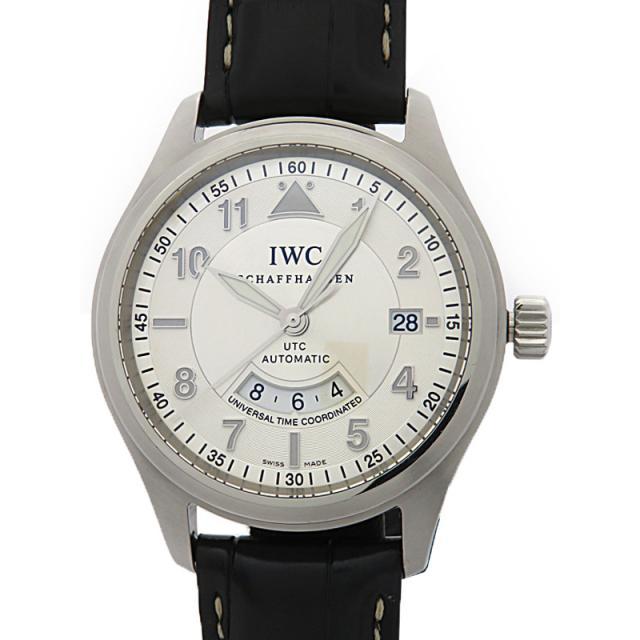 IWC インターナショナルウォッチカンパニー スピットファイア UTC IW325110 メンズ 自動巻き 3ヶ月保証 中古 b01w/h02B