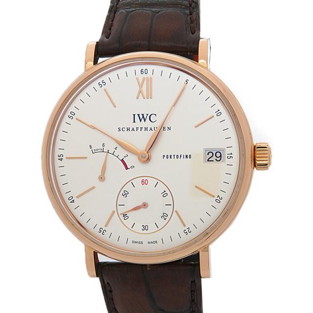 IWC ローズゴールドケース インターナショナルウォッチカンパニー ポートフィノ ハンドワインド 8デイズ IW510107 メンズ 手巻き 6ヶ月保証 中古 b01w/h04A
