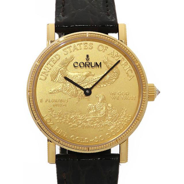 CORUM コルム コインウォッチ 50周年記念モデル CO82/02481 メンズ 自動巻き 6ヶ月保証 中古 b06w/h04A 世界限定100本