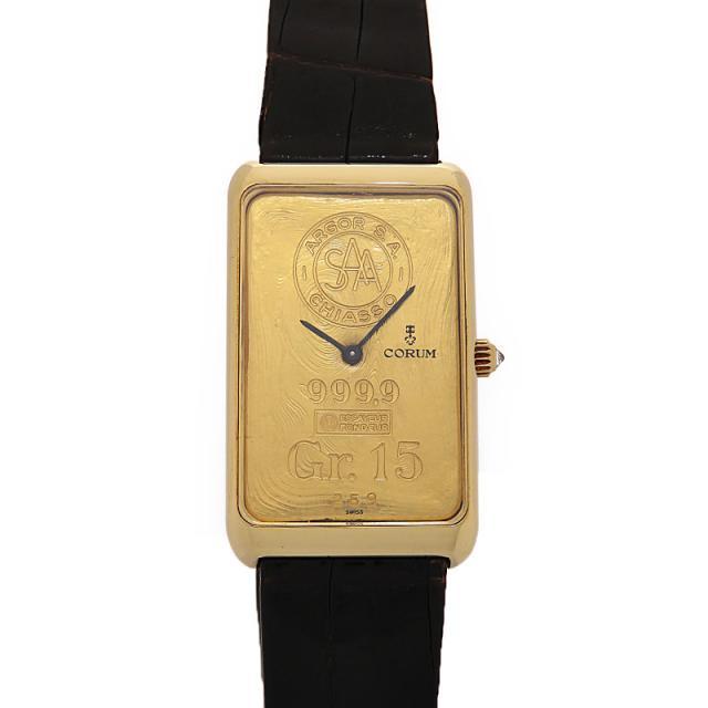 CORUM YG アンティーク現状品 コルム インゴッドウォッチ 999.9 Gr.15 メンズ 手巻き 3ヶ月保証 中古 b05w/h10B