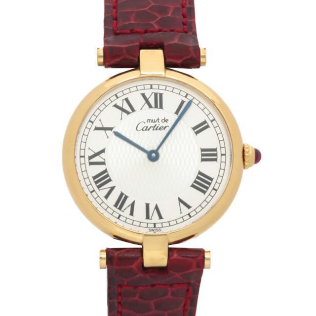 Cartier カルティエ マストヴァンドーム ヴェルメイユ レディース クォーツ 3ヶ月保証 中古 b03w/h14B 電池交換済 1847本限定