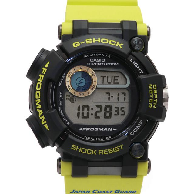 CASIO G-SHOCK カシオ Gショック フロッグマン 海上保安制度創設70周年コラボ GWF-D1000JCG-9JR メンズ ソーラー電波クォーツ 3ヶ月保証 中古 b06w/h18S
