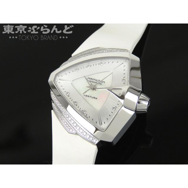 ハミルトン (HAMILTON) ベンチュラ 888本限定 9P ダイヤモンドベゼル H24255359 34mm 自動巻き ホワイト 腕時計 中古 18feb ポイント7倍12.30_21:00〜1.15_9:59 1D8S 17dmd 101228161