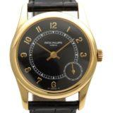 PATEK PHILIPPE パテック・フィリップ カラトラバ 5000J メンズ腕時計 K18YG AT ブラック 革(クロコ) 中古B/標準 20180727MS 東発 20112855