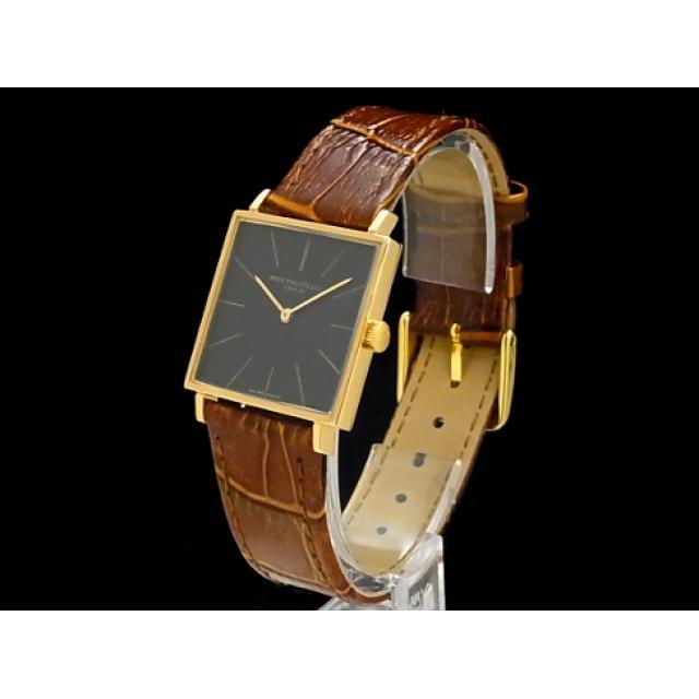 パテック・フィリップ – PATEK PHILIPPE – ヴィンテージ スクエア 3503 手巻 cal.175 18KPGケース/革 メンズ 腕時計 中古 USED