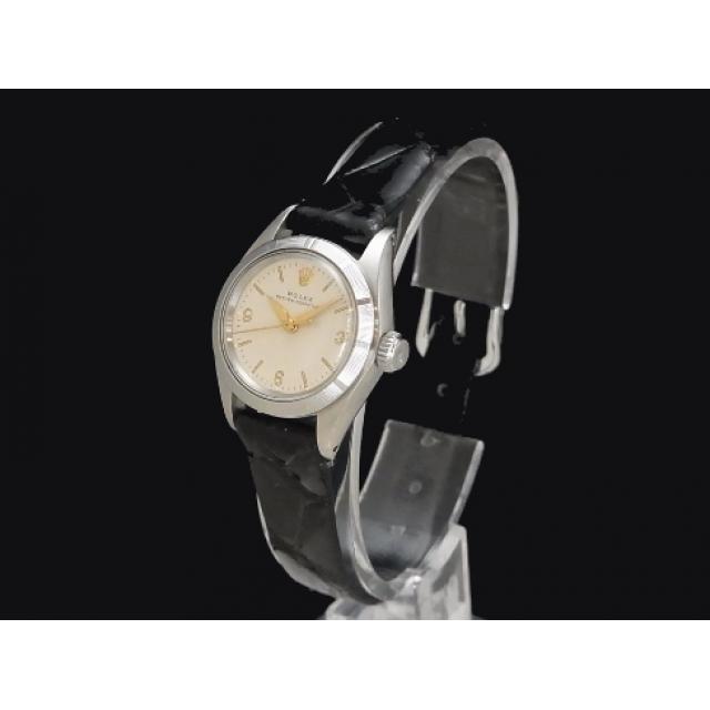ロレックス – ROLEX – オイスターパーペチュアル 6623 エンジンターンドベゼル SSケース/革 自動巻き レディース 腕時計 Luxury Brand Selection  中古