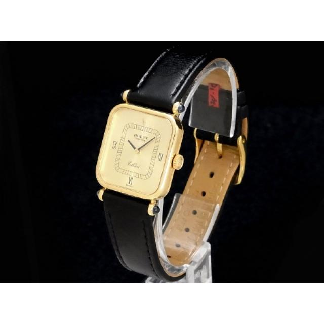 ロレックス – ROLEX – チェリーニ スクエア ローマン 美品 18KYG/革 手巻き レディース 腕時計 Luxury Brand Selection 中古