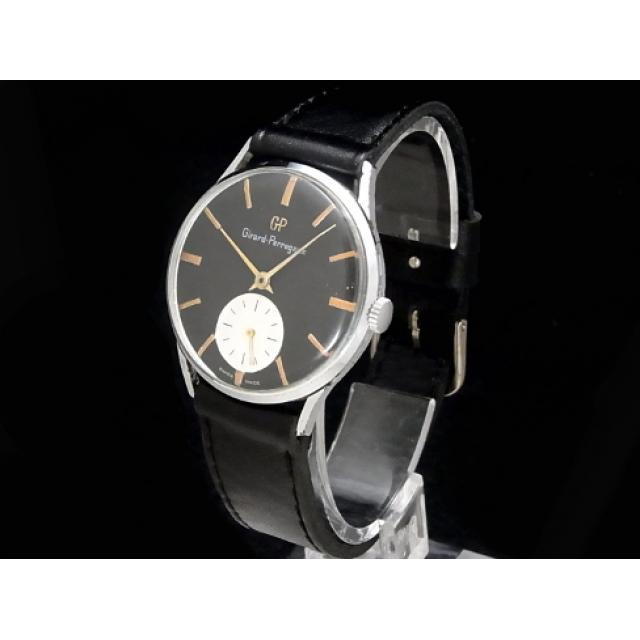 ジラール・ペルゴ – GIRARD PERREGAUX – スモセコ ヴィンテージ 希少!ツートンダイヤル SSケース/革 手巻き メンズ 腕時計 中古 USED