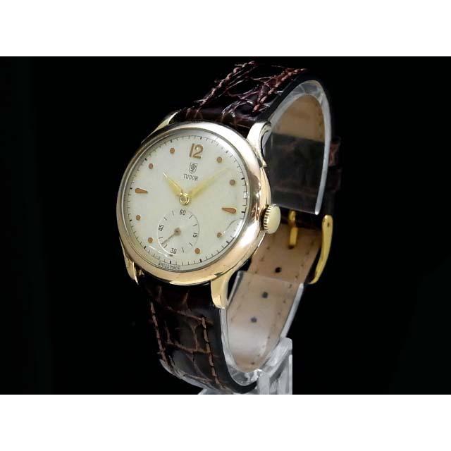 チュードル – TUDOR – 小薔薇(コバラ) 希少・スモセコ! 手巻き シルバー文字盤 手巻き ボーイズ 腕時計 中古 USED