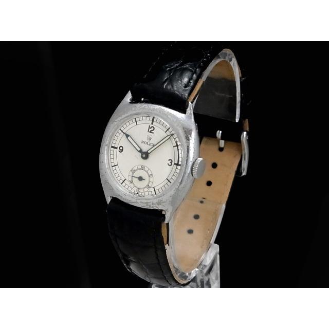 ロレックス – ROLEX – スモセコ ヴィンテージ クッションケース Ref.3892 希少モデル! SS/革 手巻き ボーイズ 腕時計 中古