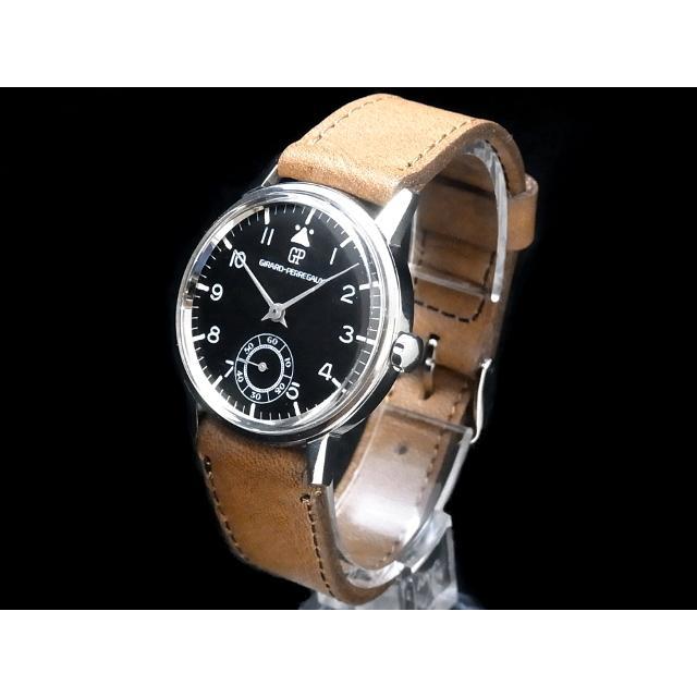 ジラール・ペルゴ – GIRARD PERREGAUX – スモセコ ミリタリー ヴィンテージ SS/革 手巻き 腕時計 中古 USED