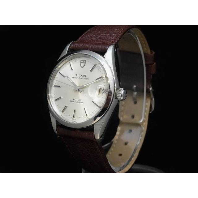 チュードル – TUDOR – プリンスオイスターデイト 貴重ヴィンテージ! 自動巻き SS/革 メンズ 腕時計 中古 USED