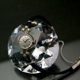 ブローバ 14KWG ダイヤ装飾 レディースウオッチ 紐ベルト仕様