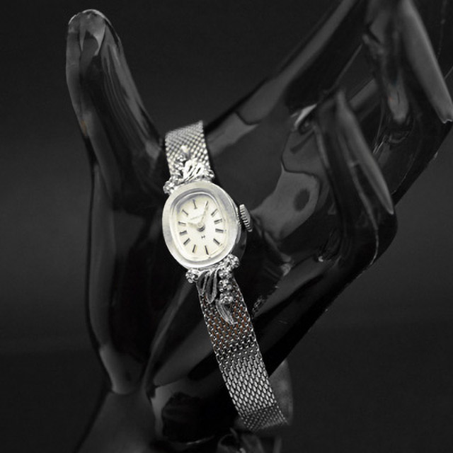 ハミルトン オーバルケース ブレス一体型 レディースアンティークウオッチ