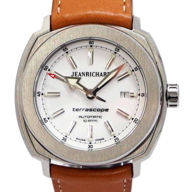 JEAN RICHARD ジャンリシャール テラスコープ Ref. 60500-11-701-HDC0 オートマチック/自動巻き ホワイト/白文字盤 安心の1年間保証 メンズ □ 腕時計 中古 75 美品 Aランク