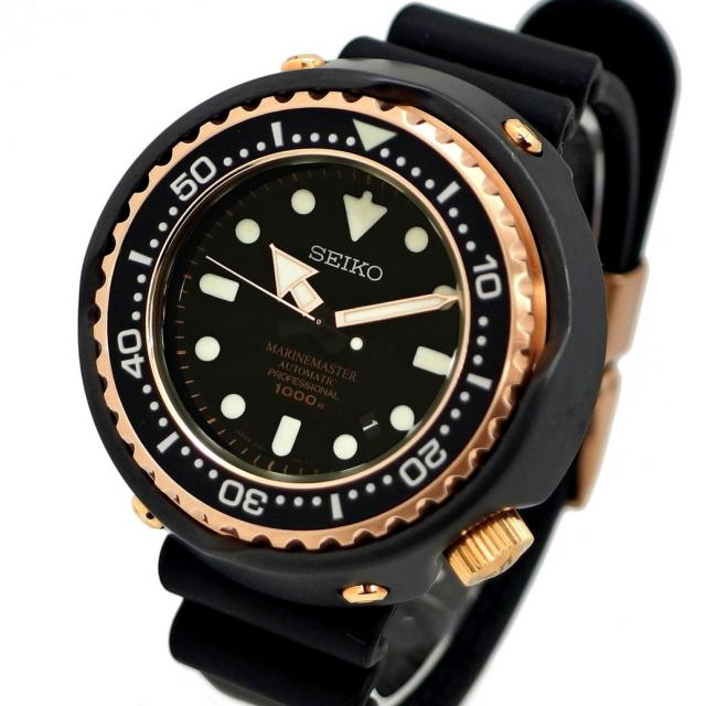 SEIKO セイコー プロスペックス マリーンマスター プロフェッショナル Ref. SBDX014 オートマチック/自動巻き ブラック/黒文字盤 安心の1年間保証 メンズ  腕時計 中古 美品 Aランク 70