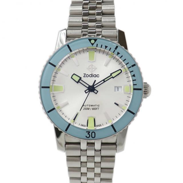 ZODIAC ゾディアック シーウルフ53 Ref. ZO9254 オートマチック/自動巻き ライトシルバー文字盤 安心の1年間保証 メンズ □ 腕時計 中古 65 美品 Aランク