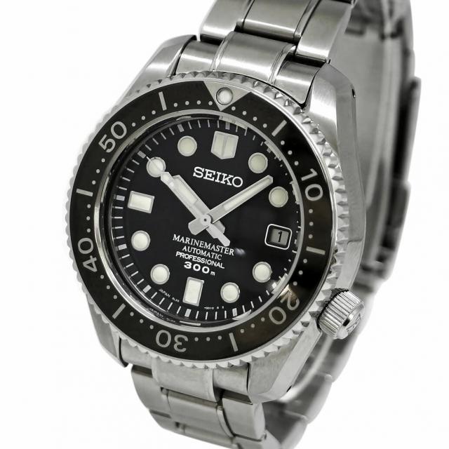 ABランク SEIKO セイコー PROSPEX プロスペックス マリーンマスター プロフェッショナル Ref. SBDX017 オートマチック/自動巻き ブラック/黒文字盤 安心の1年間保証 メンズ □ 腕時計 中古 84