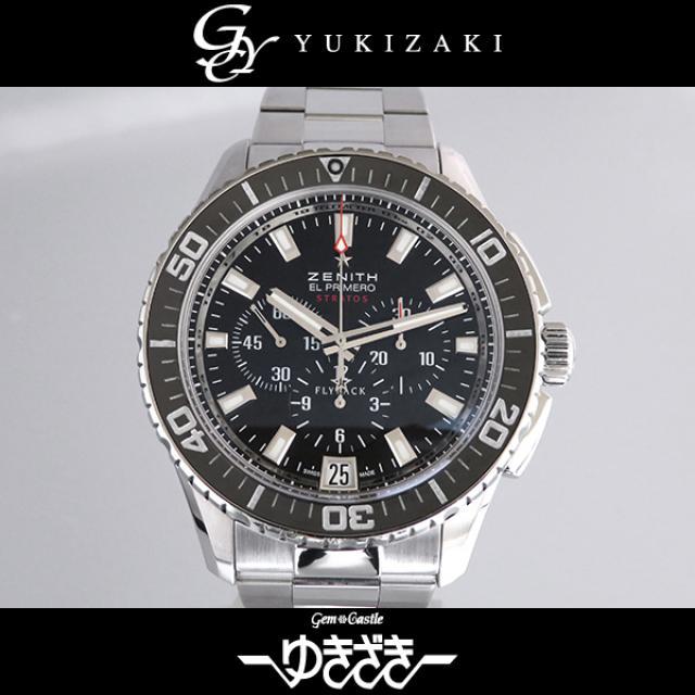 ゼニス ZENITH 03.2060.405/21.M2060 エルプリメロ ストラトス フライバック クロノグラフ ブラック文字盤 メンズ 腕時計 中古