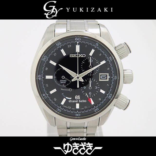 セイコー SEIKO セイコー・グランドセイコー スプリングドライブ 9R86-0AA0 ブラック文字盤 メンズ 腕時計 中古