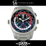 ジラール ペルゴ GIRARD-PERREGAUX フェラーリモデル ブラック文字盤 メンズ 腕時計 中古
