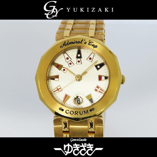 コルム CORUM アドミラルズカップ 39.910.56V085/K アイボリー文字盤 レディース 腕時計 中古