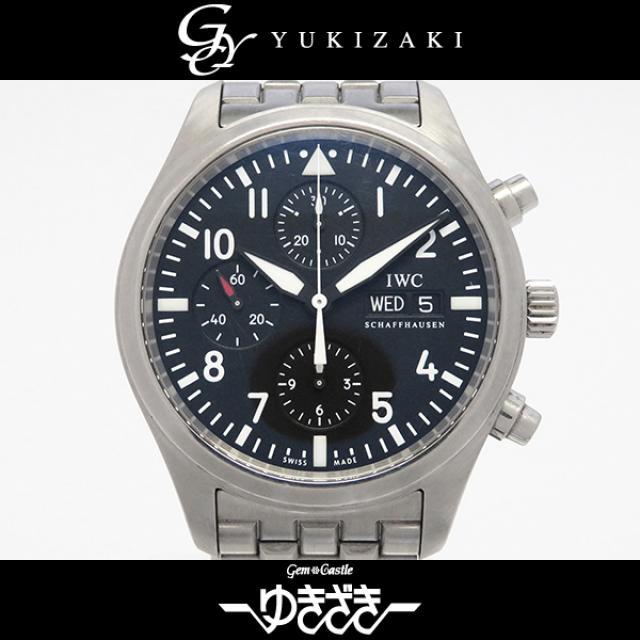 アイ・ダブリュ・シー IWC パイロットウォッチクロノ IW371704 ブラック文字盤 メンズ 腕時計 中古