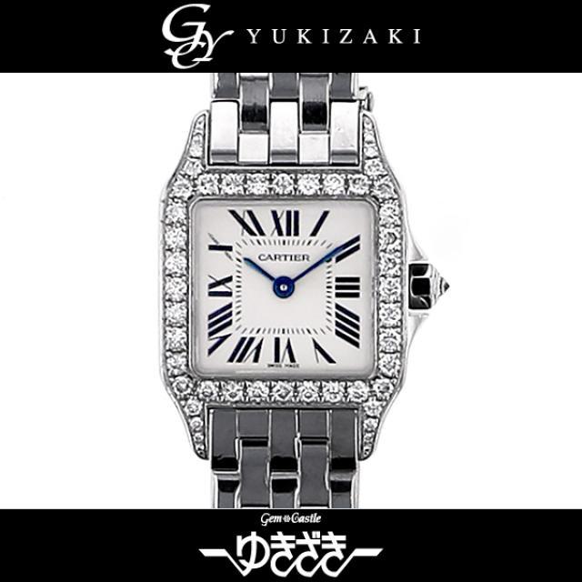 カルティエ CARTIER サントスドゥモワゼル WF9003Y8 ホワイト文字盤 レディース 腕時計 中古