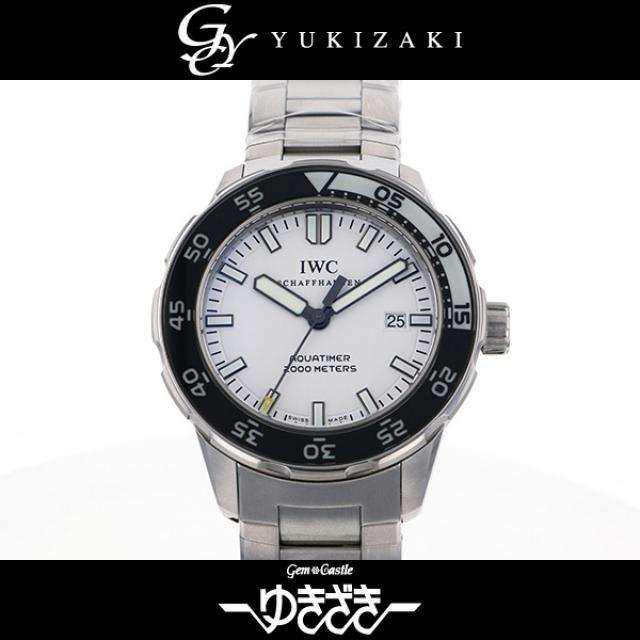 アイ・ダブリュ・シー IWC アクアタイマー オートマチック2000 IW356809 ホワイト文字盤 メンズ 腕時計 中古