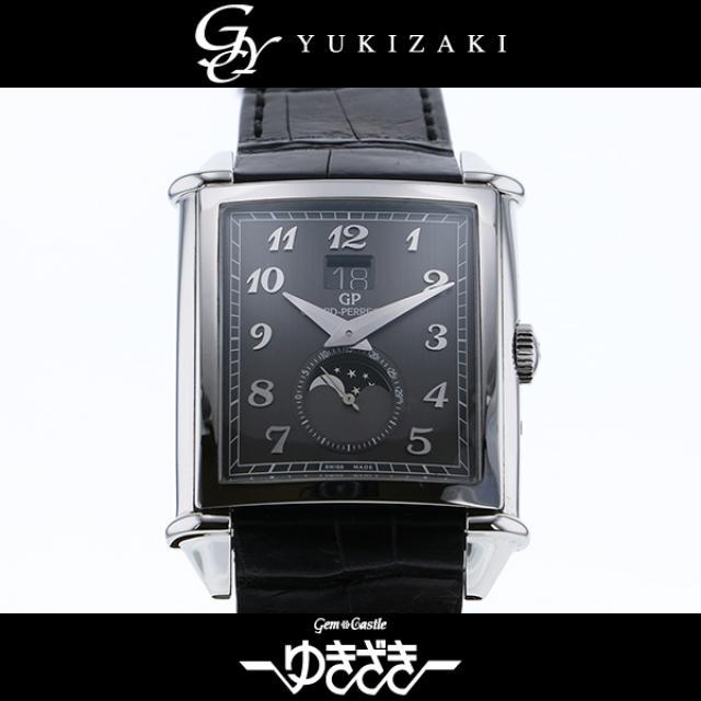 ジラール ペルゴ GIRARD-PERREGAUX ヴィンテージ1945 XXLラージデイト&ムーンフェイズ 25882-11-221-BB6B グレー文字盤 メンズ 腕時計 中古
