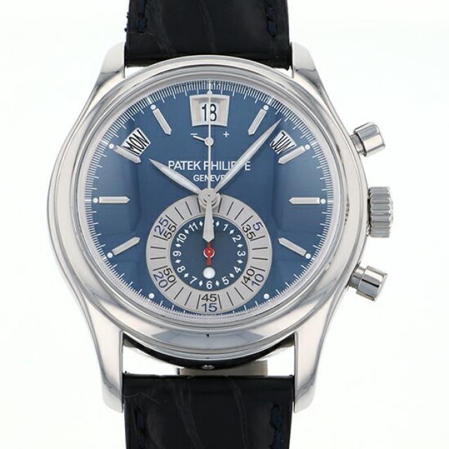 パテック・フィリップ PATEK PHILIPPE アニュアルカレンダー 5960P-015 ブルー文字盤 メンズ 腕時計 中古
